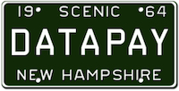 Datapay NH License Plate